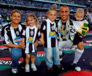 Fabio Cannavaro con moglie e figli