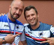 Antonio Cassano e Walter Zeng Sampdoria 2015 2016