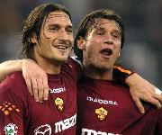 Antonio Cassano e Francesco Totti nella Roma