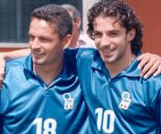 Roberto Baggio e Alessandro Del Piero mondiali 1998 Francia