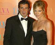 Luis Figo e la moglie Helen Svedin