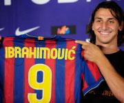 Zlatan Ibrahimovic Barcellona maglia 9