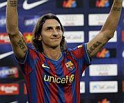 Presentazione Ibrahimovic Barcellona 2009