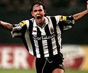 Inzaghi esulta dopo gol nella Juve