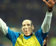 Marco Materazzi maschera Silvio Berlusconi