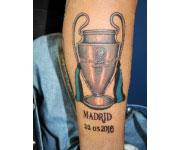 Marco Materazzi tatuaggio finale Madrid 2010 Champions League