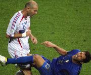 Testata di Zidane a Materazzi Italia-Francia Finale Mondiali 2006