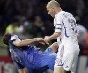 Testata di Zidane a Materazzi Italia-Francia Finale Coppa del Mondo 2006