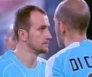 Tommaso Rocchi e Paolo Di Canio Lazio