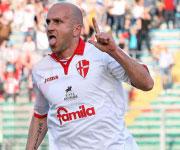 Tommaso Rocchi Padova Calcio 2013 2014 esulta lingua fuori