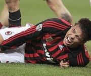 Infortunio Ronaldo Milan-Livorno 1-1 del 13-02-2008