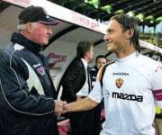 Carlo Mazzone e Francesco Totti