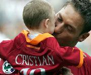 Francesco Totti e il figlio Cristian Totti